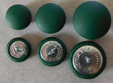 Upholstery buttons imitation leather dark green