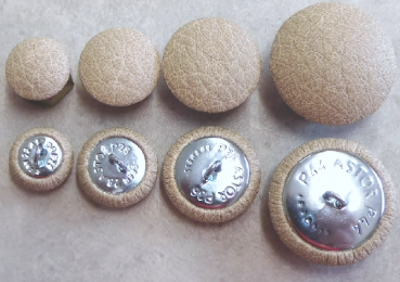 Cushion buttons imitation leather toffee
