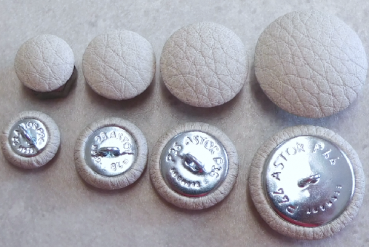 Cushion buttons imitation leather Ice