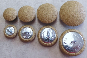Cushion buttons imitation leather Beige