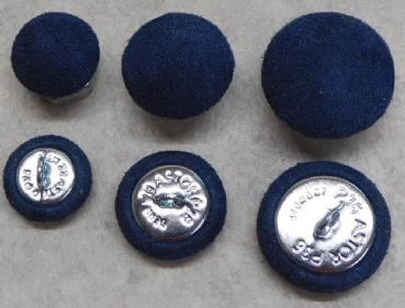 Upholstery buttons Microfibre Upholstery fabric Blue