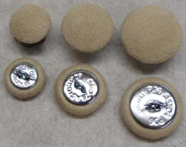Upholstery button with microfibre Upholstery fabric Beige