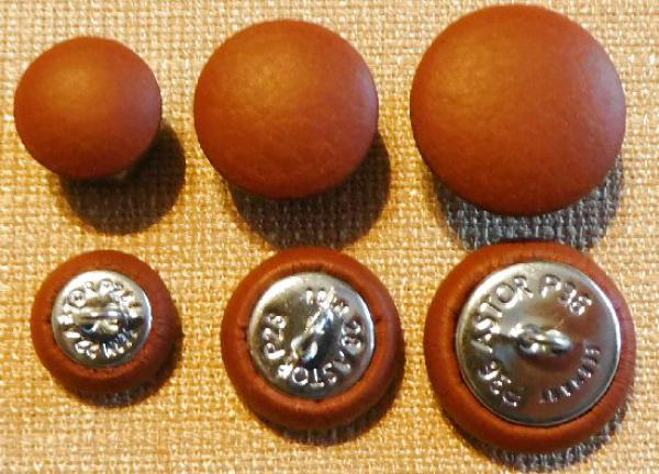 Upholstery knob with genuine leather Sumac