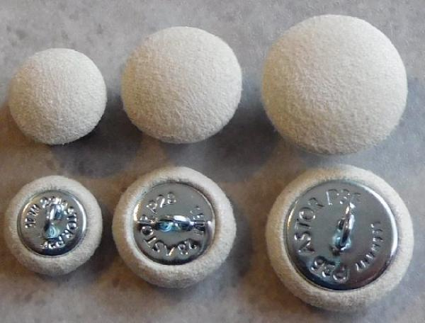 Upholstery buttons Microfibre Cream