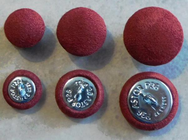 Cushion buttons Microfibre Bordeaux