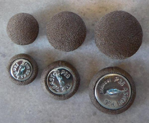 Upholstery buttons microfibre caribou